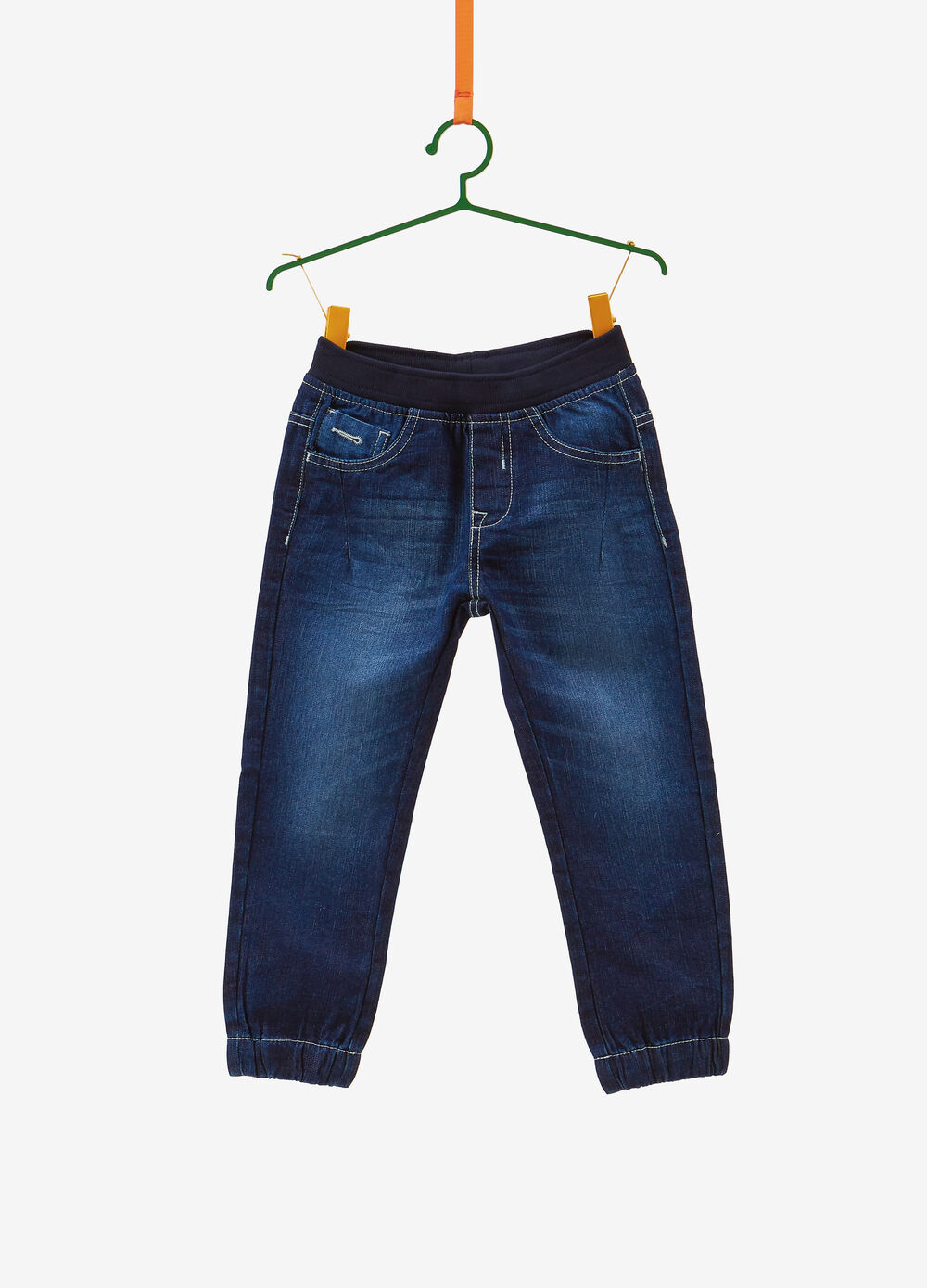 Jeans jogger fit effetto used