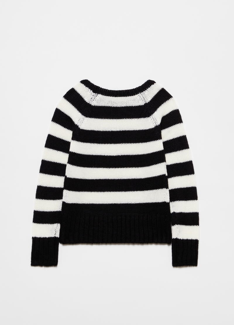 Pullover a righe maniche raglan image number null