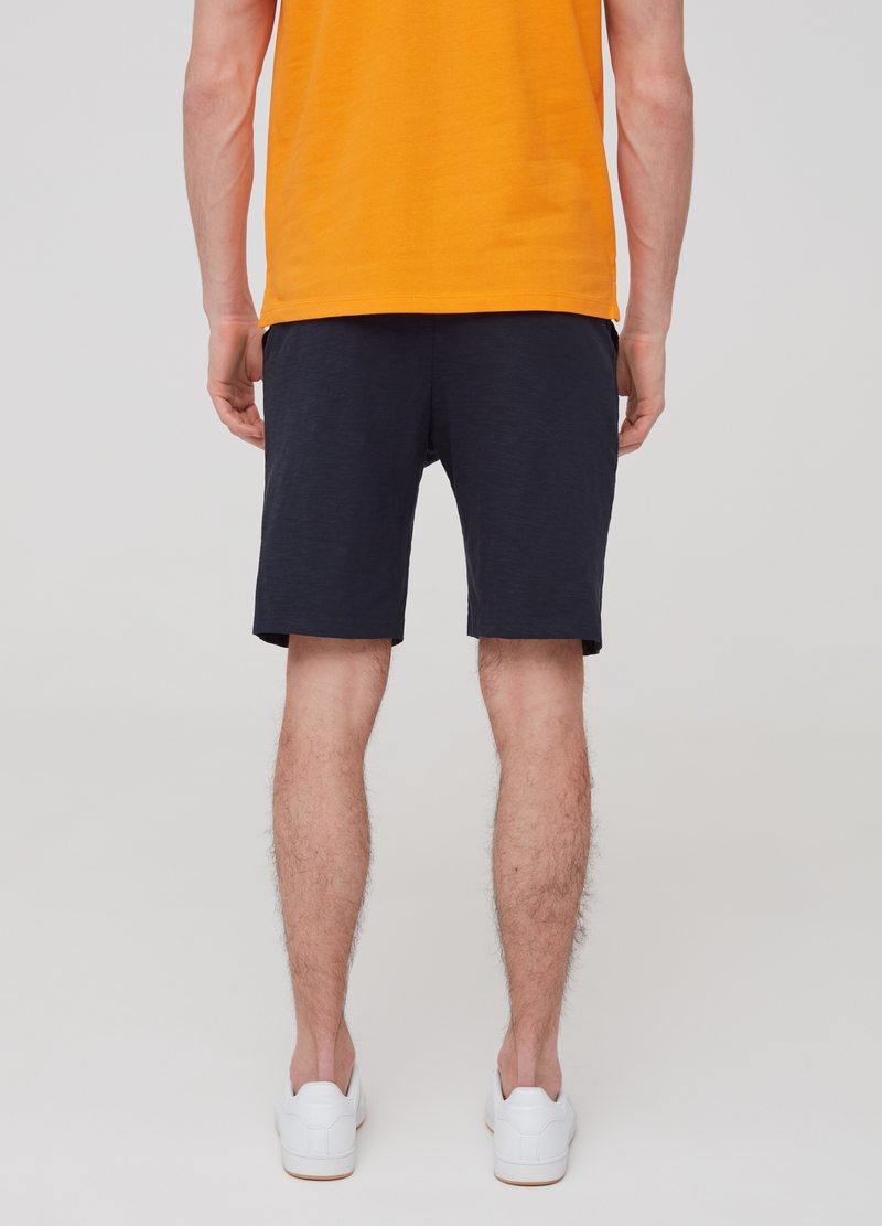 Short joggers in slub cotton with print image number null
