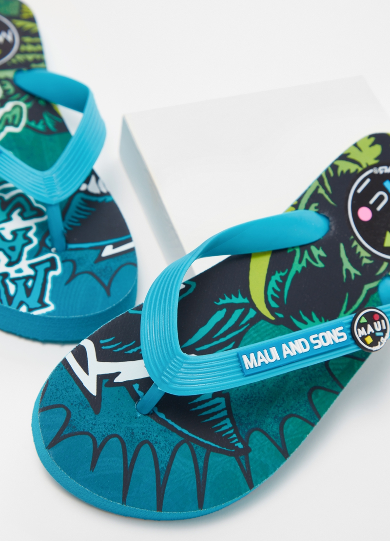 Thong sandals with Maui and Sons logo image number null