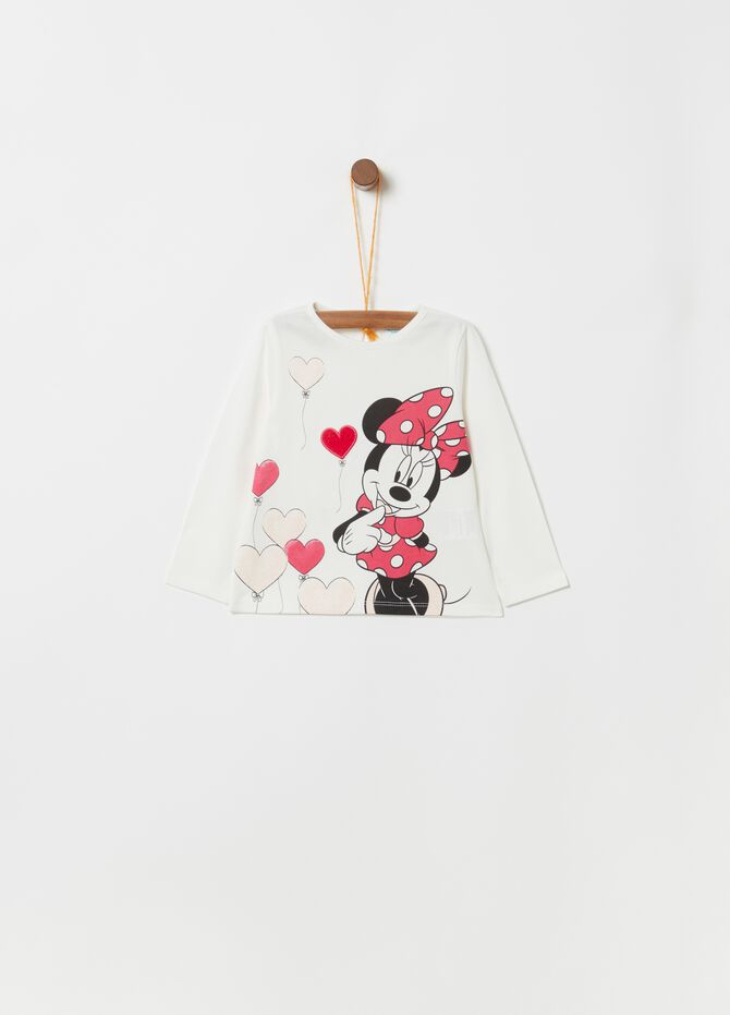 T-shirt biocotton stampa Disney Minnie