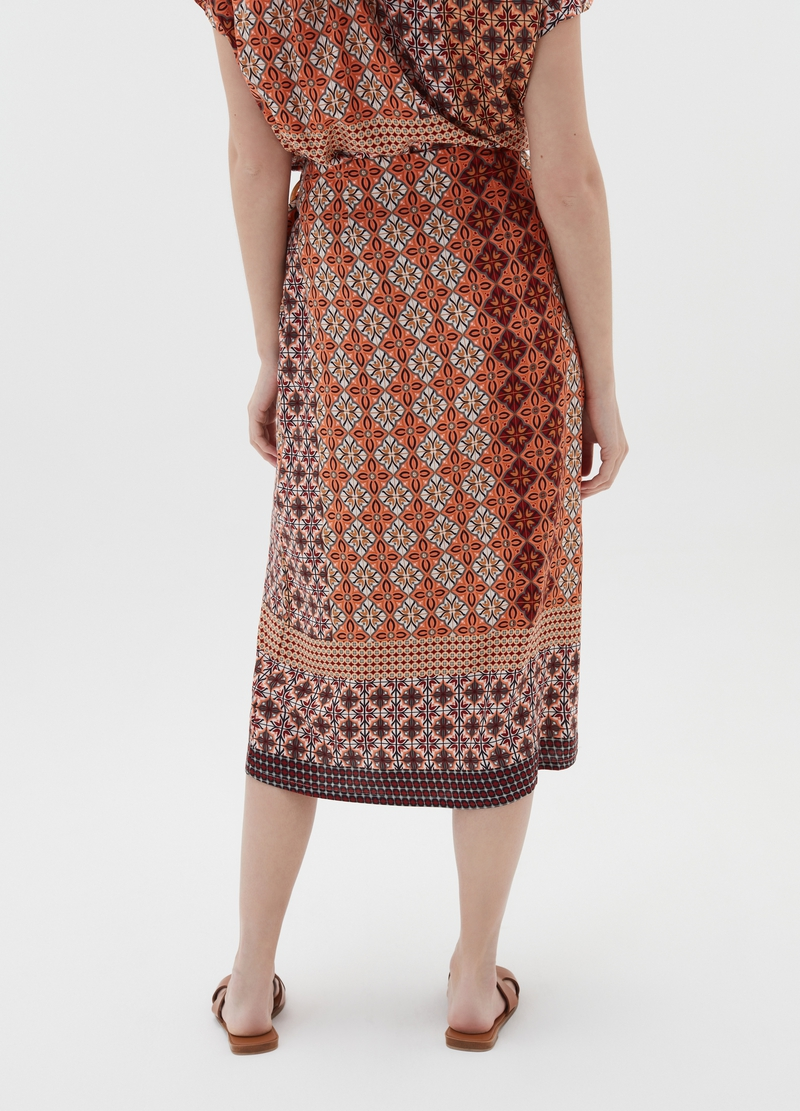 Viscose skirt with majolica pattern image number null