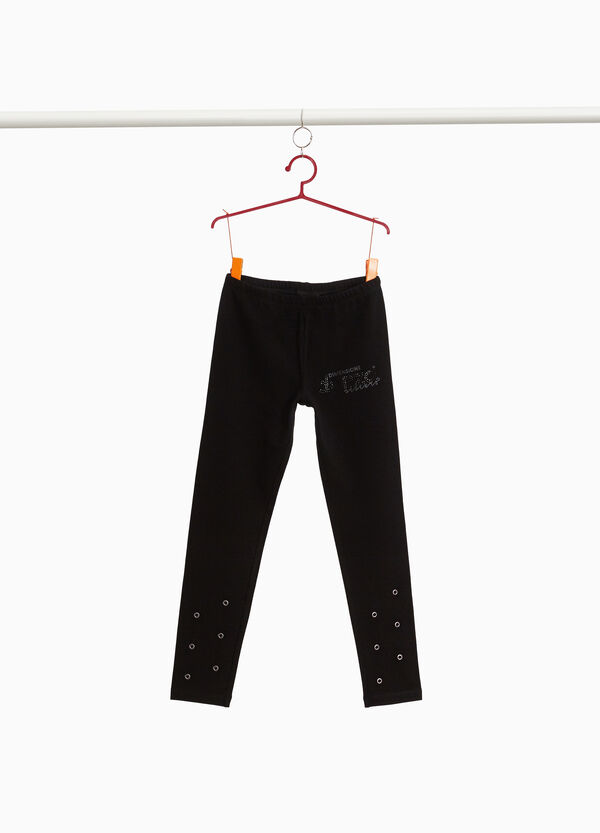 Dimensione Danza leggings with diamantés