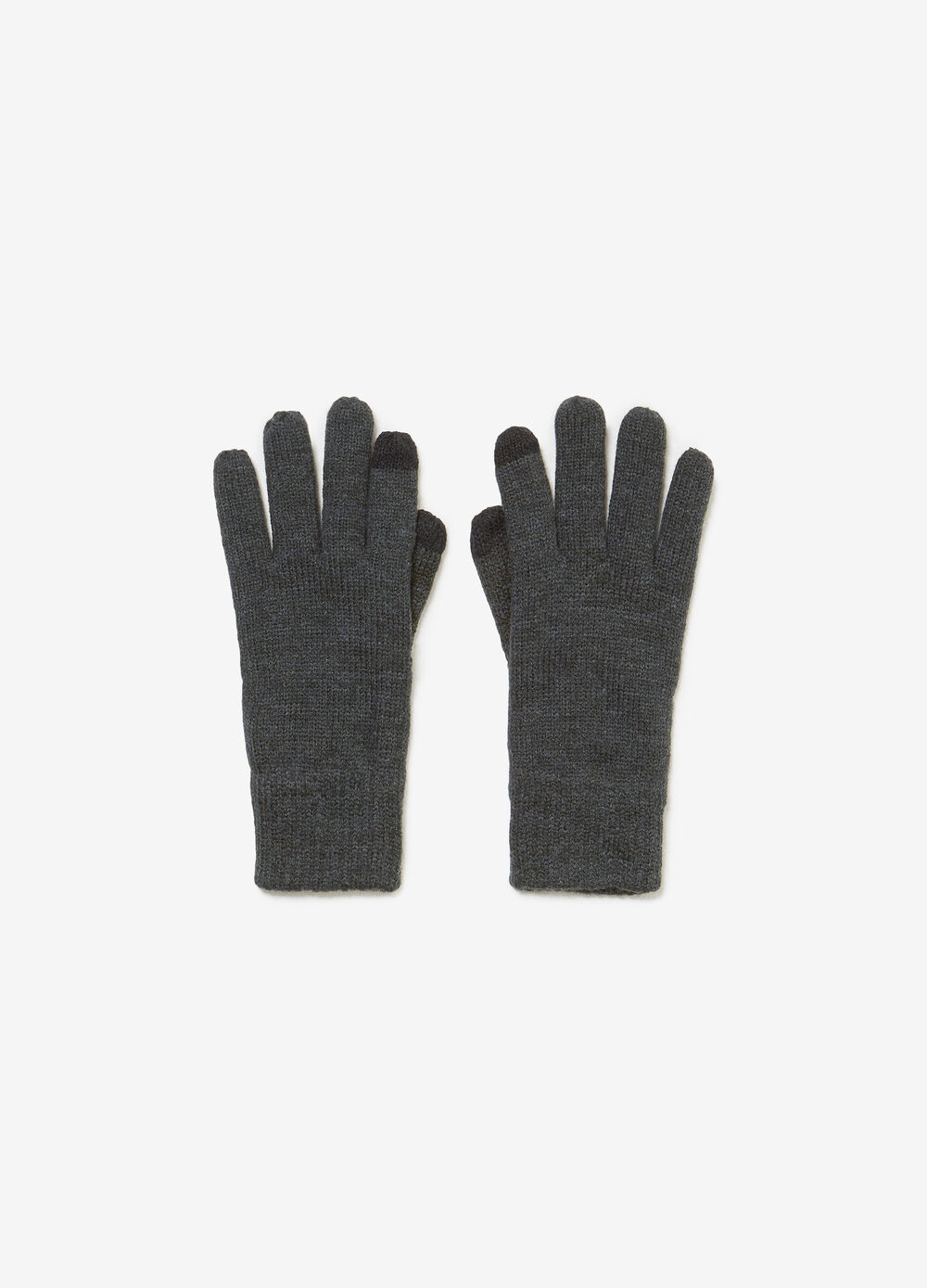 Knit touchscreen gloves with lining