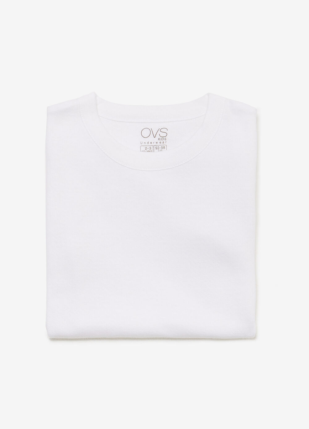 100% cotton undershirt with crew neck
