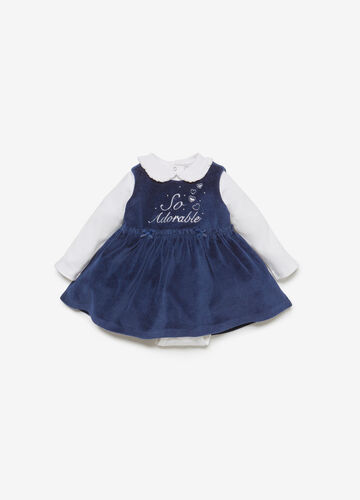 BCI cotton blend bodysuit and dress outfit