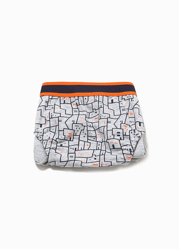Patterned briefs in stretch cotton | OVS