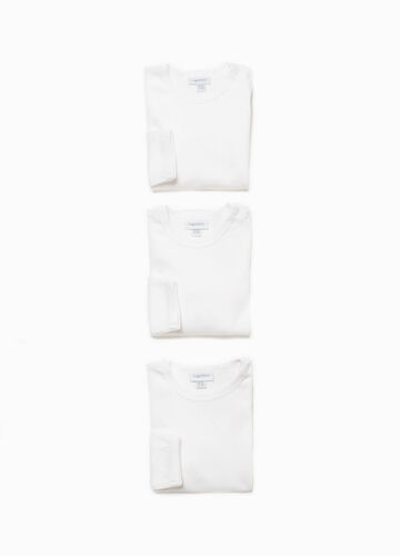 Three-pack bodysuits in 100% organic cotton