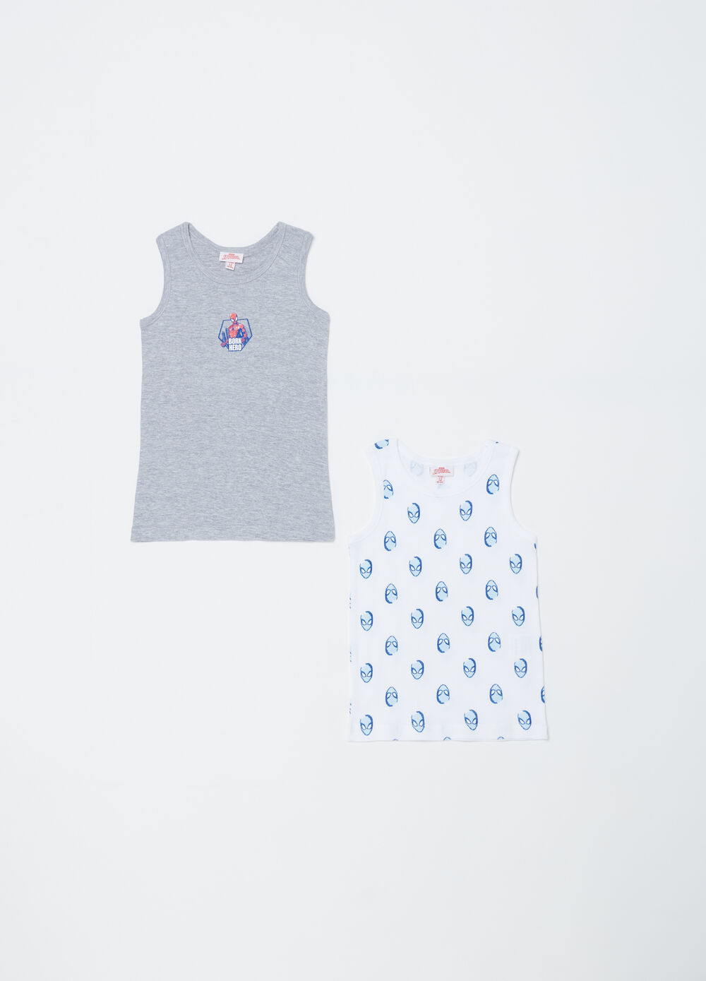 Two-pack Spiderman vest tops