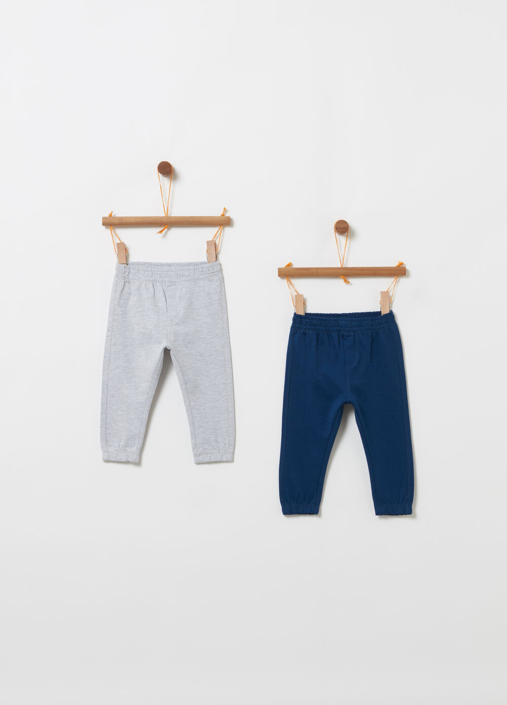 Set of two trousers with elasticated waistband