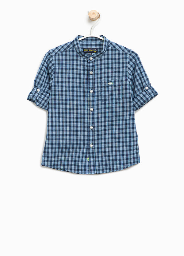100% cotton check patterned shirt | OVS