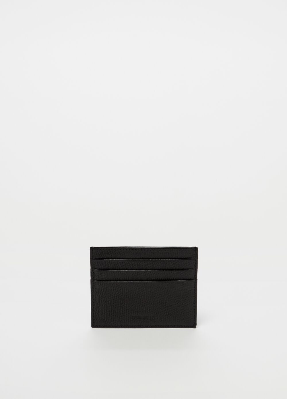 Genuine leather credit card holder
