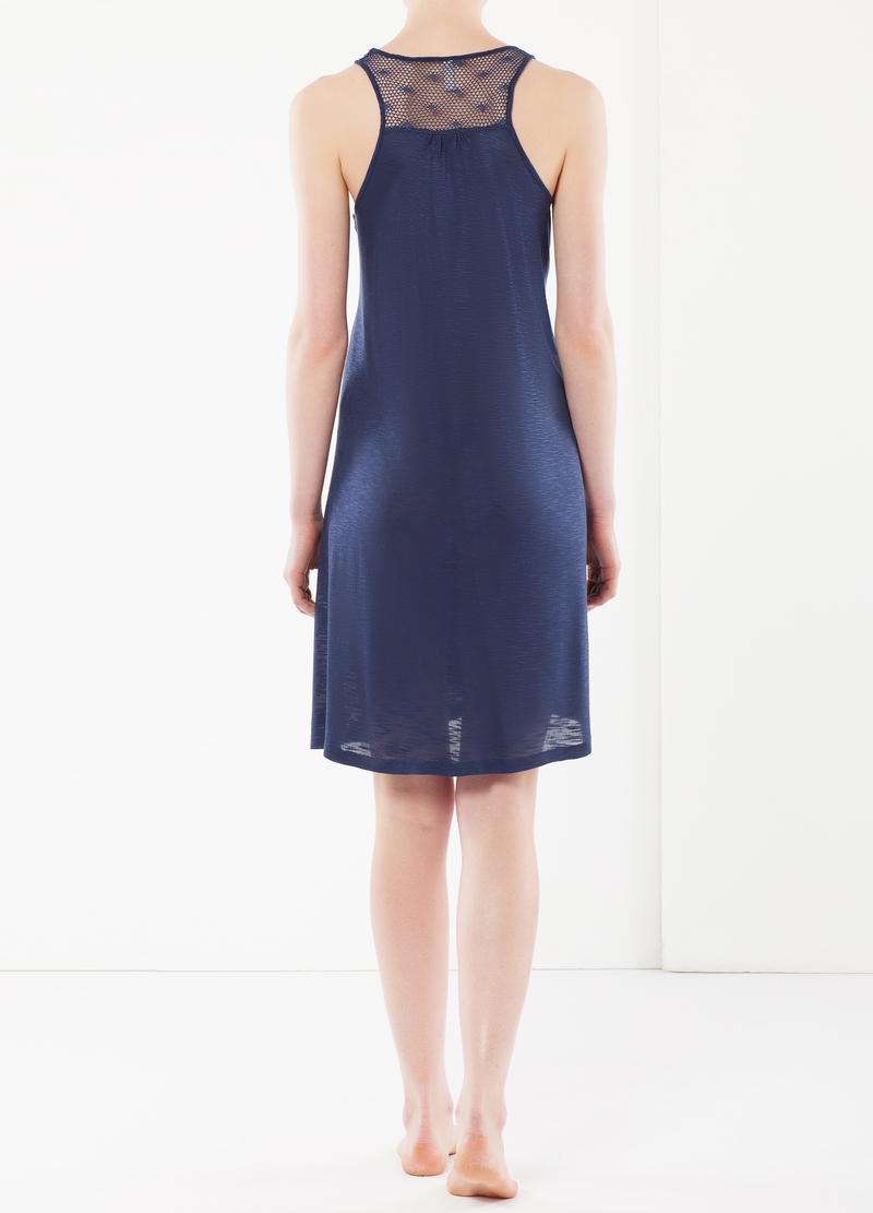 Nightdress with mesh details image number null