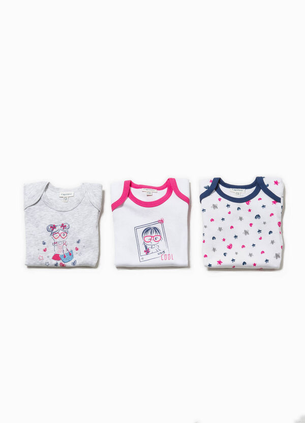 Set of three bodysuits with short sleeves | OVS