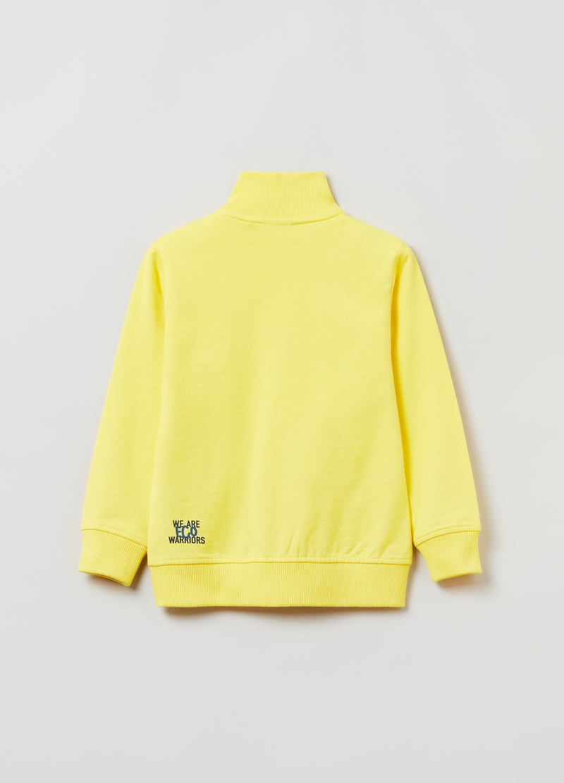 Full-zip a collo alto con stampa lettering image number null