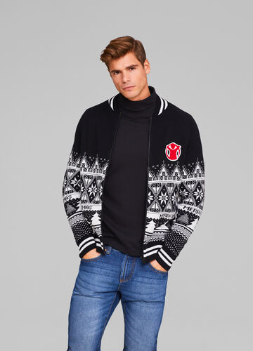 Christmas Cardigan with Save The Children patch