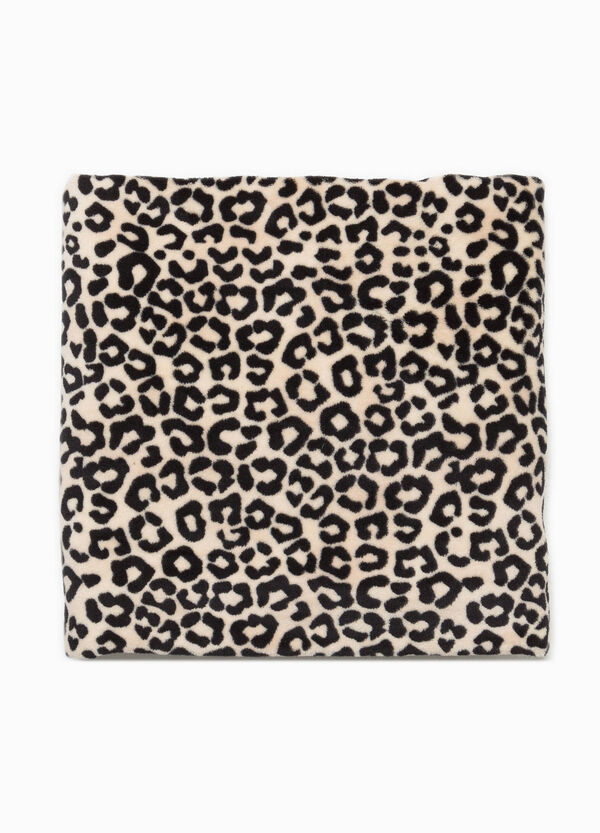 Fleece throw with all-over print | OVS