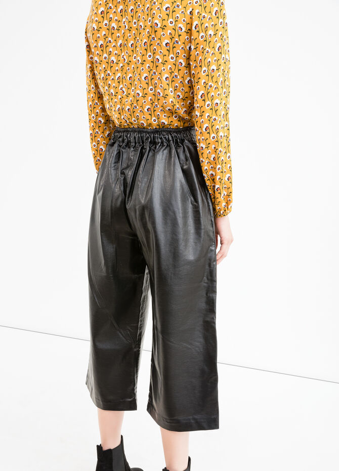 Eco-leather gaucho trousers