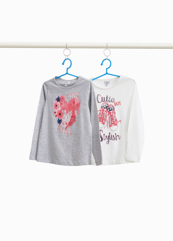 Two-pack printed 100% cotton T-shirts