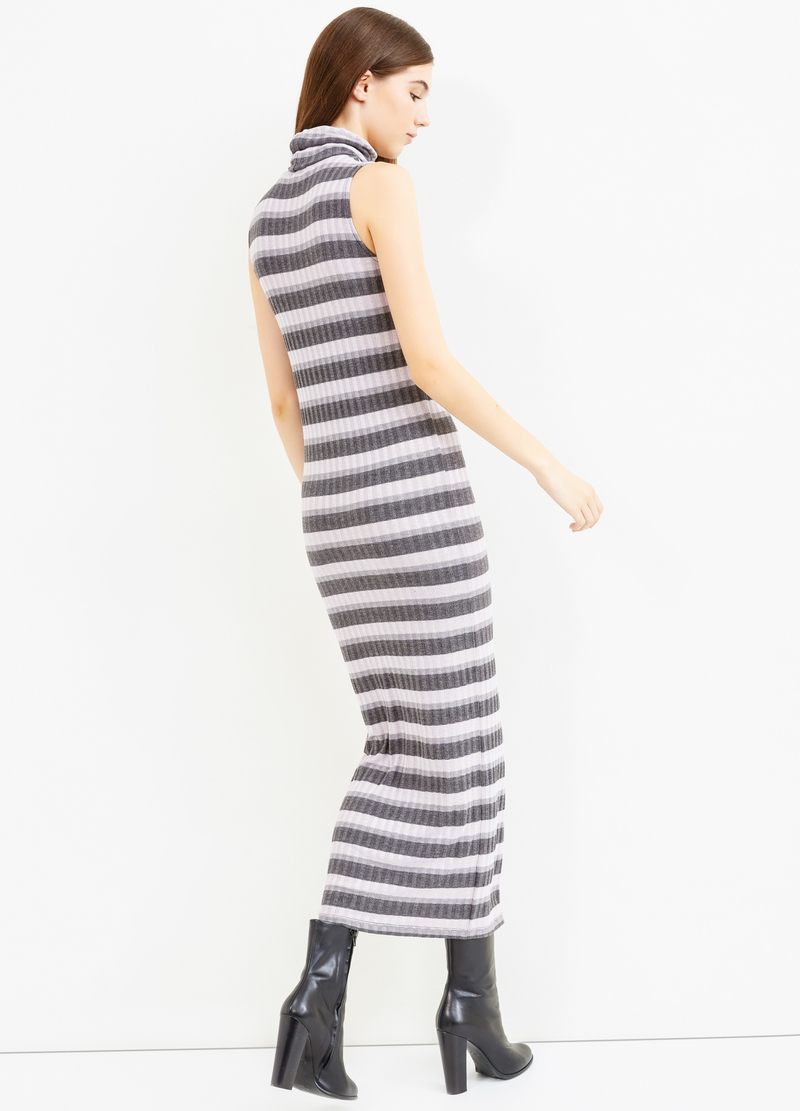 Long striped dress in stretch viscose image number null