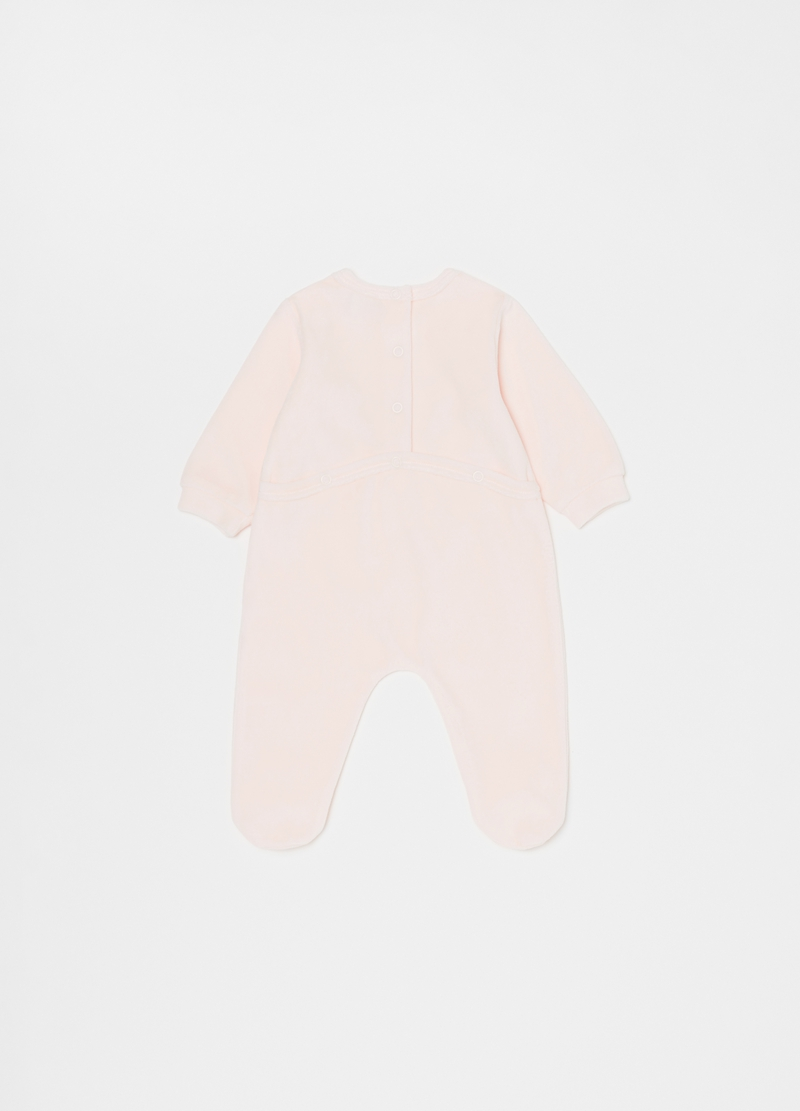 Solid colour onesie with feet and koala image number null