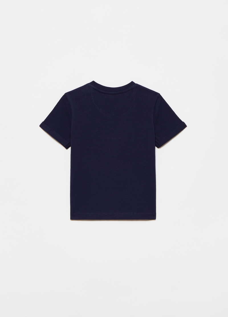 Cotton T-shirt with motorbike application image number null