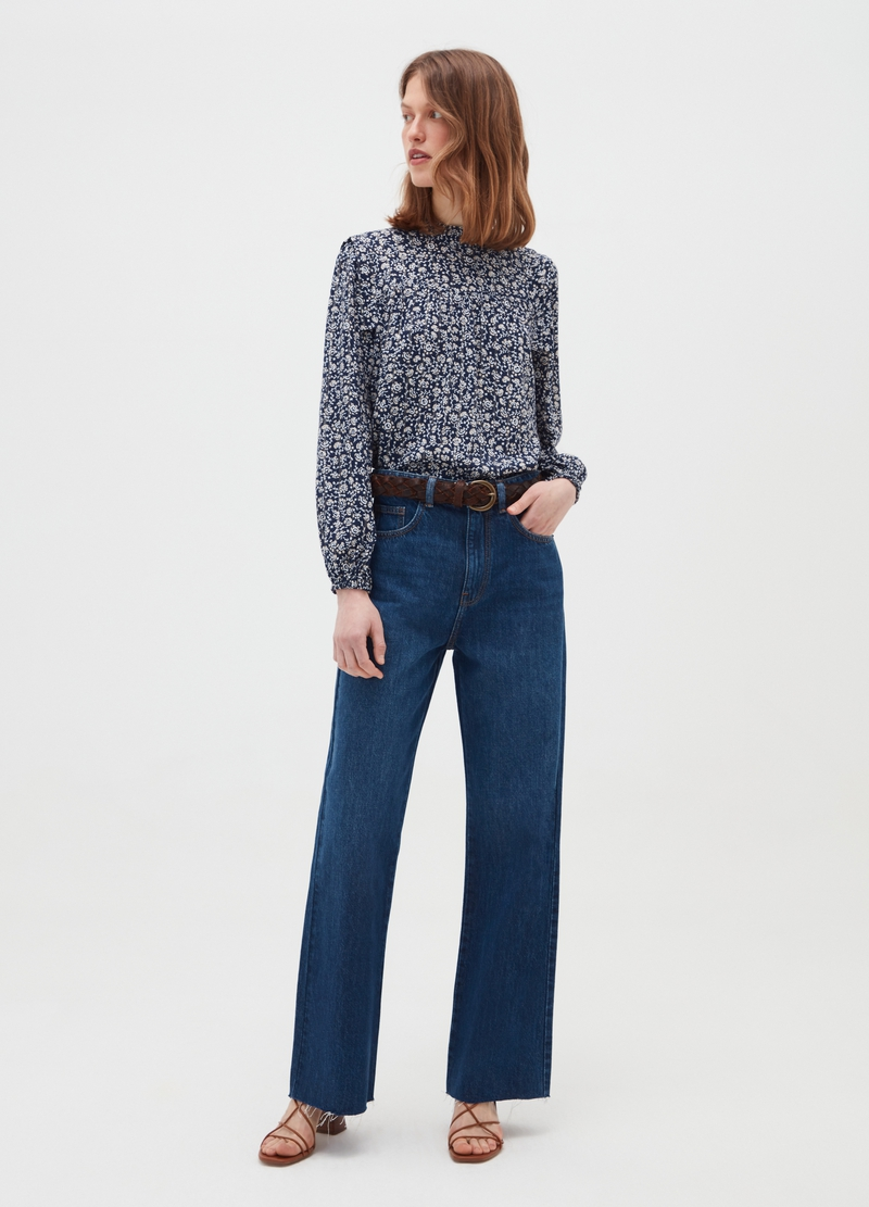 Shirt with lurex pattern image number null