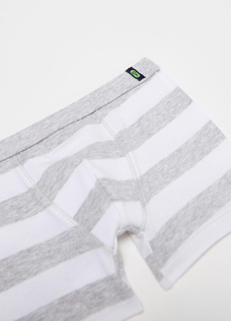 Stretch boxer shorts with striped pattern image number null