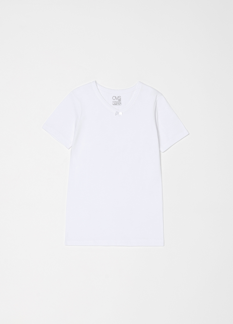 Solid colour undershirt in 100% organic cotton image number null