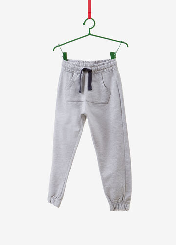 Cotton and viscose trousers with elasticated waistband