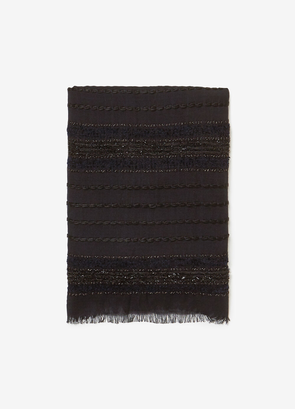 Pashmina with yarn details