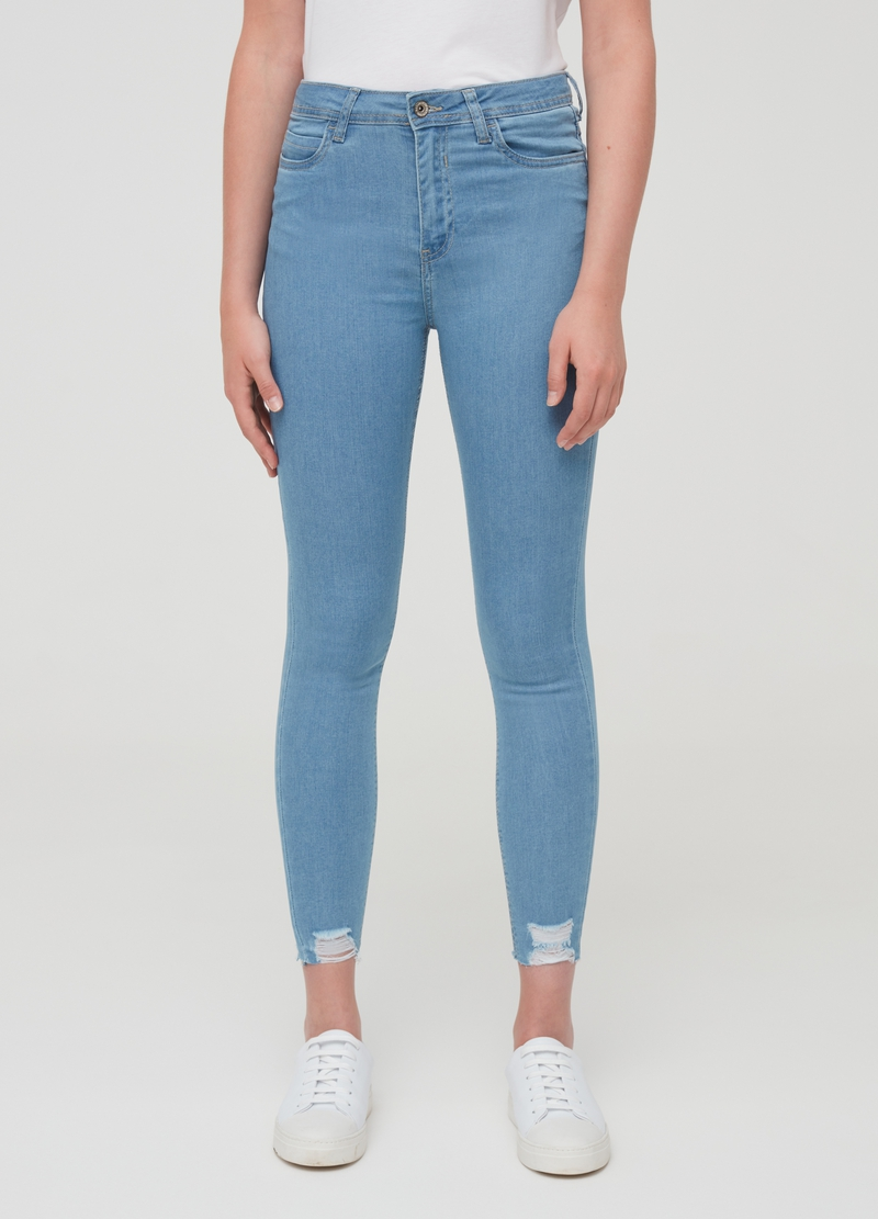 Super-skinny-fit jeans with rips image number null