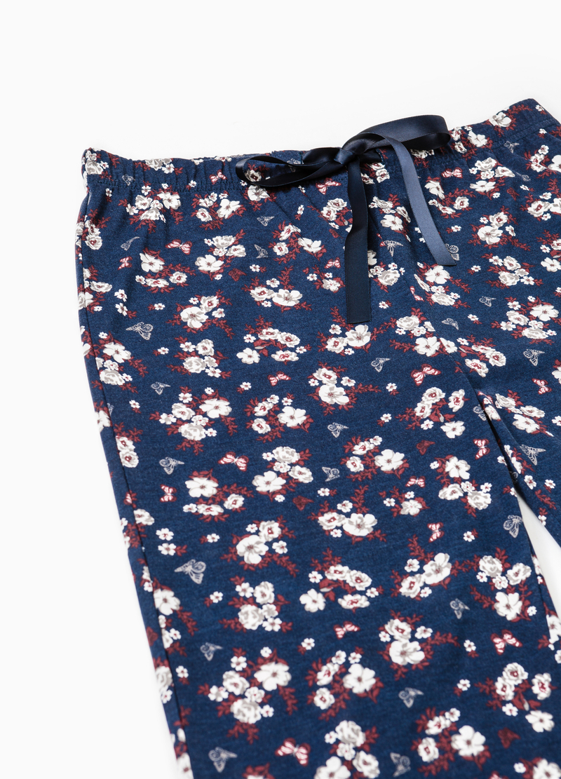 Pyjama trousers with floral print image number null
