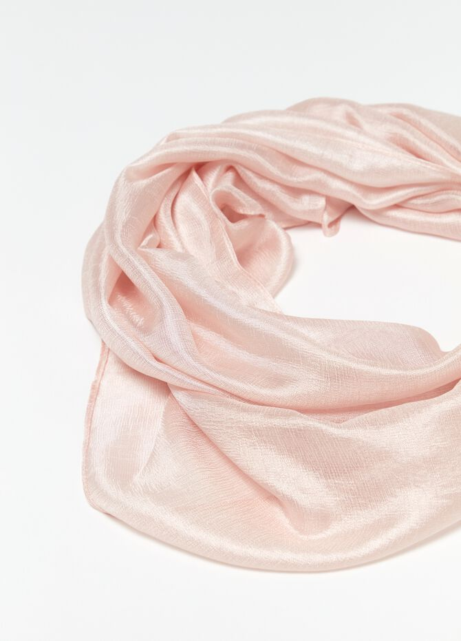 Solid colour shiny-effect silky stole