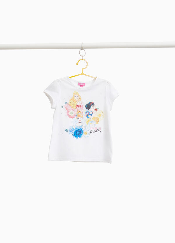 T-shirt stretch stampa Disney Princess