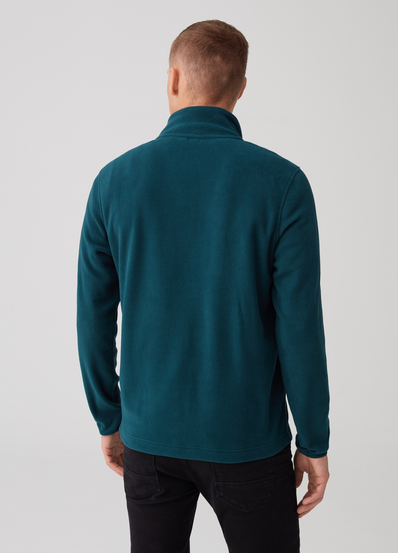 Sustainable fleece with V-neck opening and zip image number null