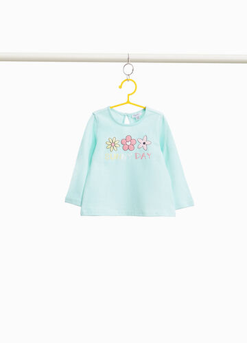 100% cotton T-shirt with floral print