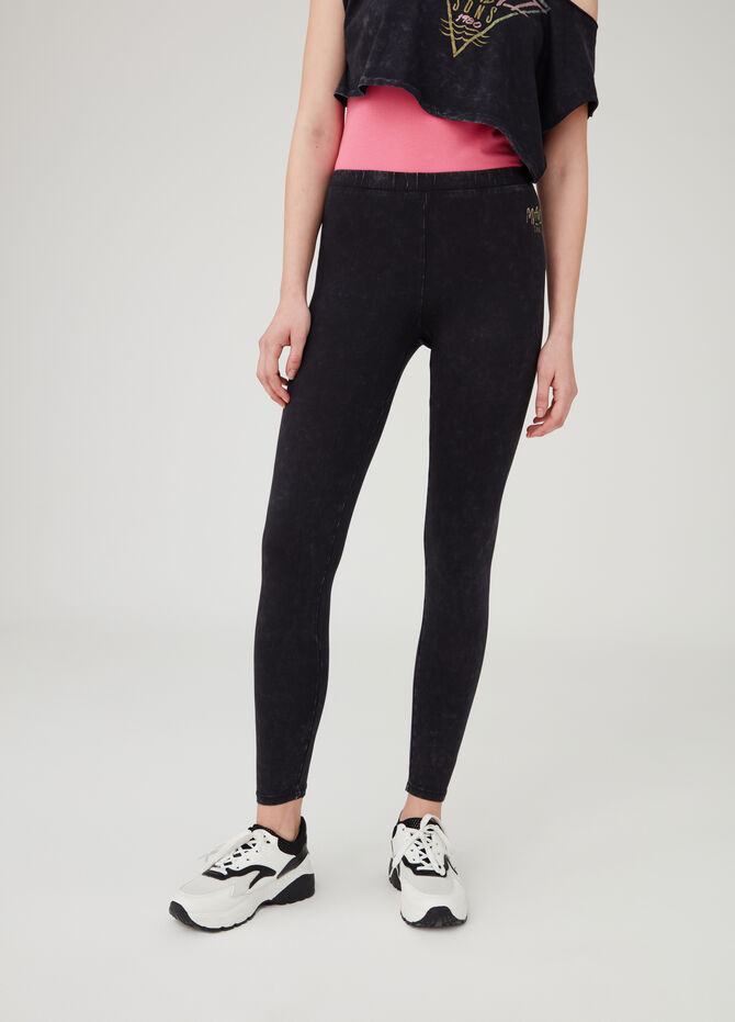 Stretch vintage-look leggings