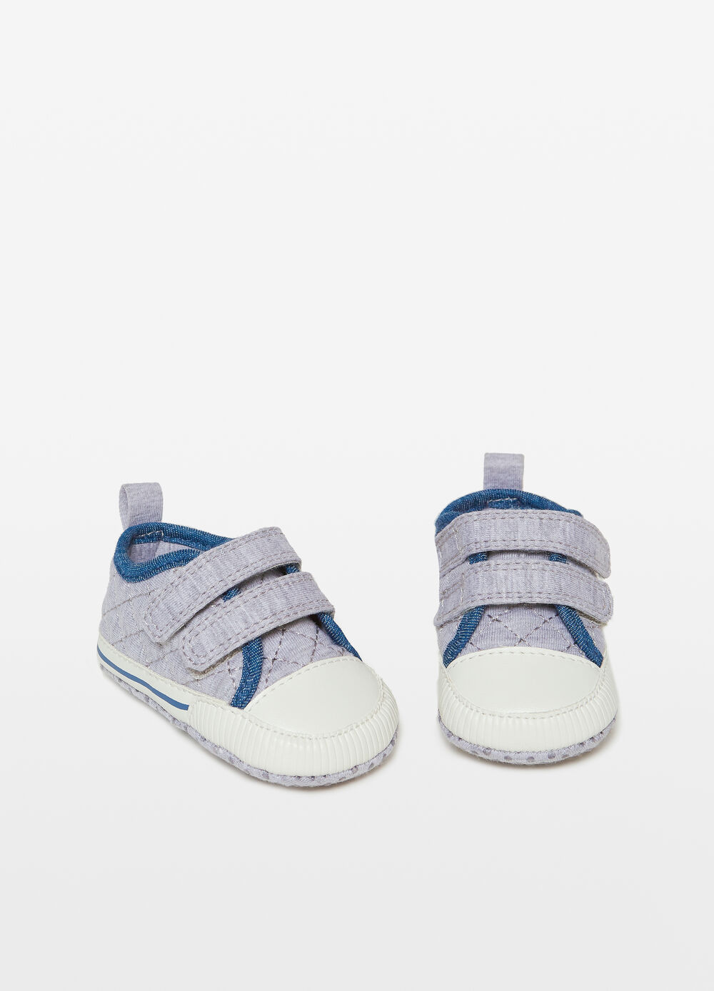 Sneakers with slip-proof soles and Velcro fastening