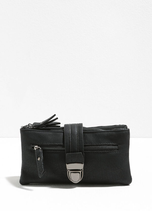 Textured purse with strap and zip | OVS