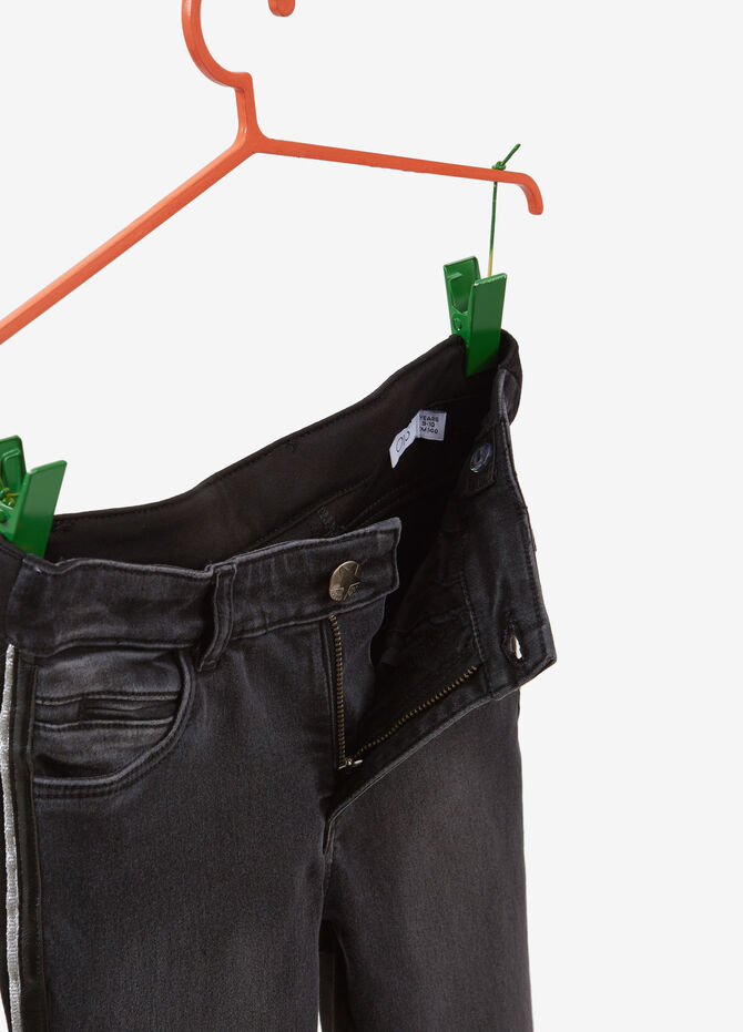 Washed-effect jeans with bands