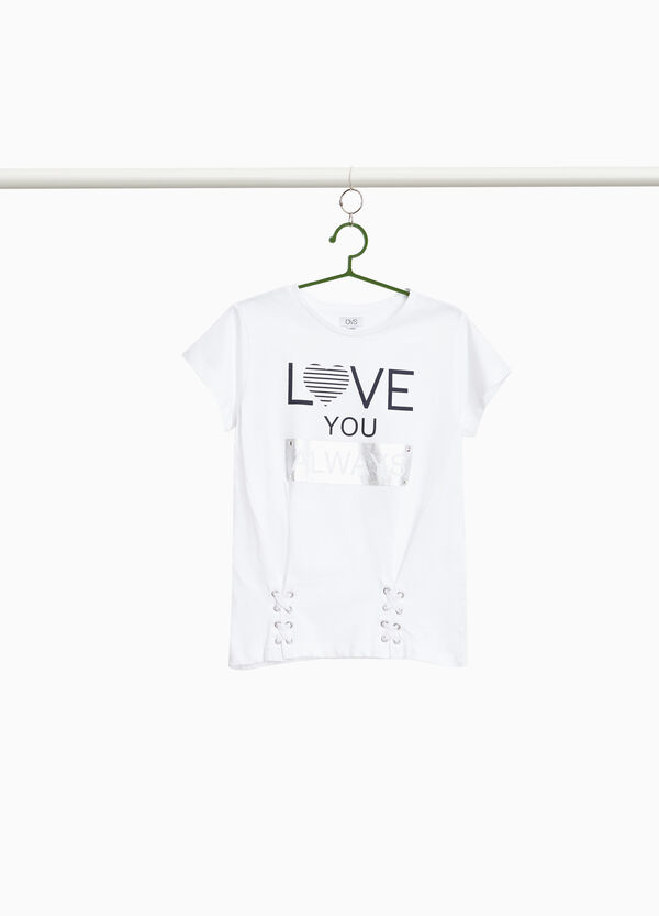 100% cotton T-shirt with glossy print