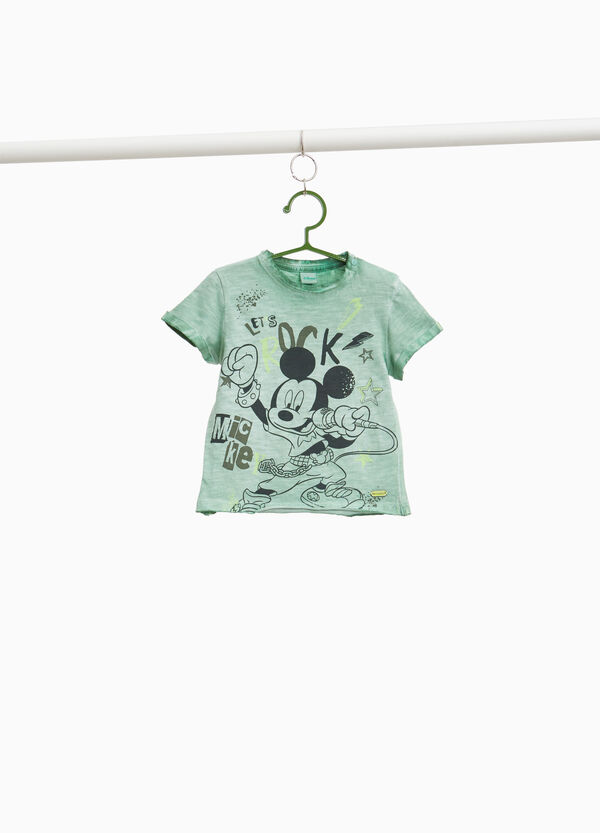 T-shirt mélange stampa Mickey Mouse