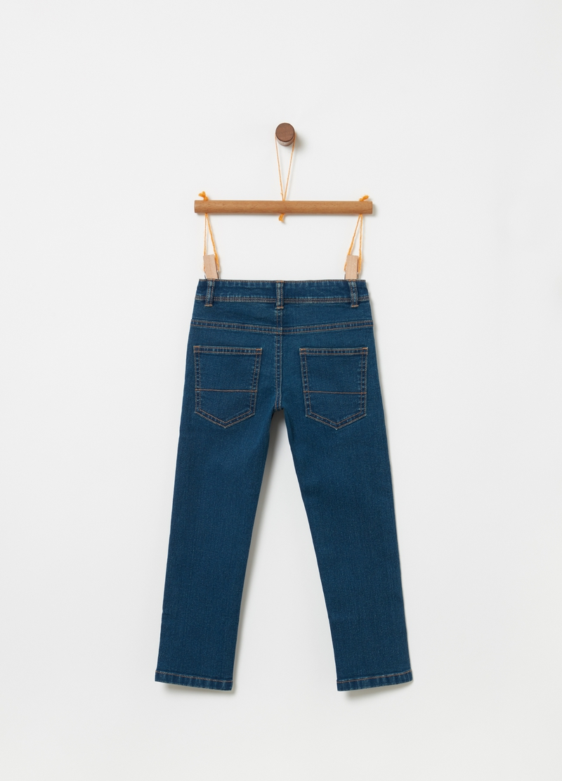 Jeans straight fit stretch con tasche image number null