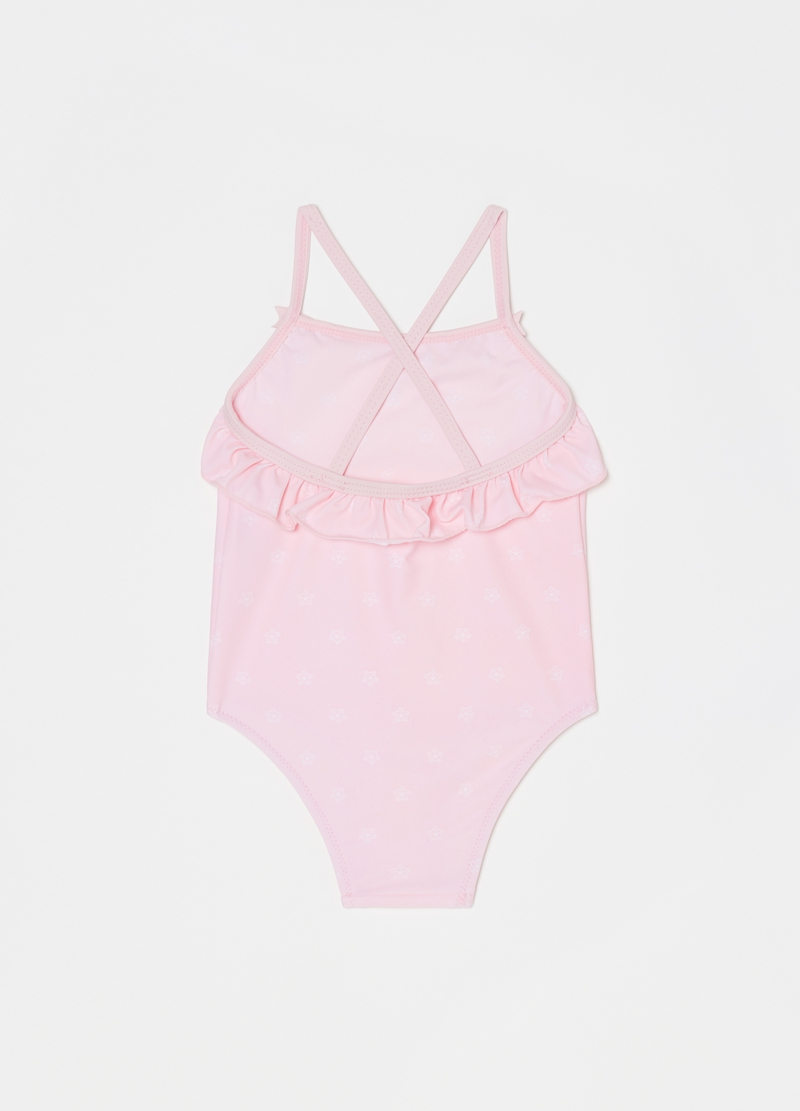 One-piece swimsuit with starfish image number null