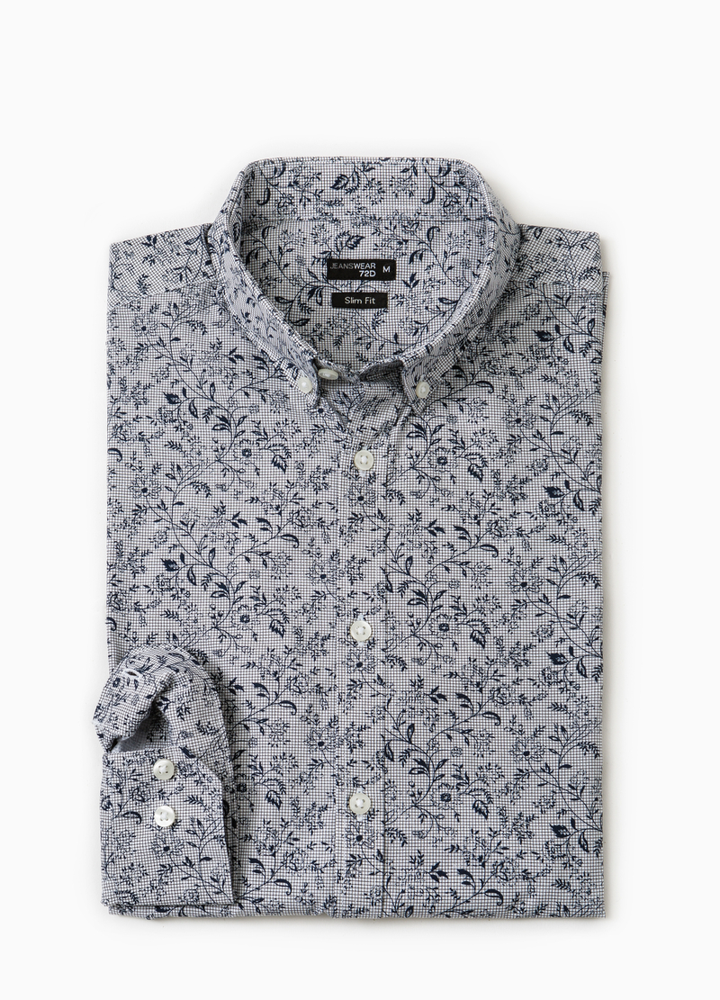 Camicia casual slim fit button down image number null