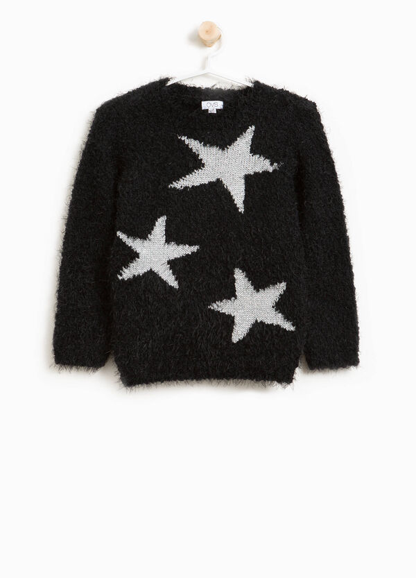 Frayed pullover with star print | OVS