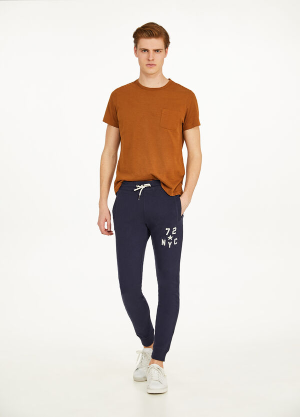 Printed joggers 100% cotton