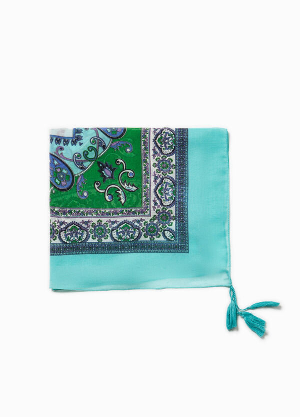 Paisley scarf with tassels | OVS