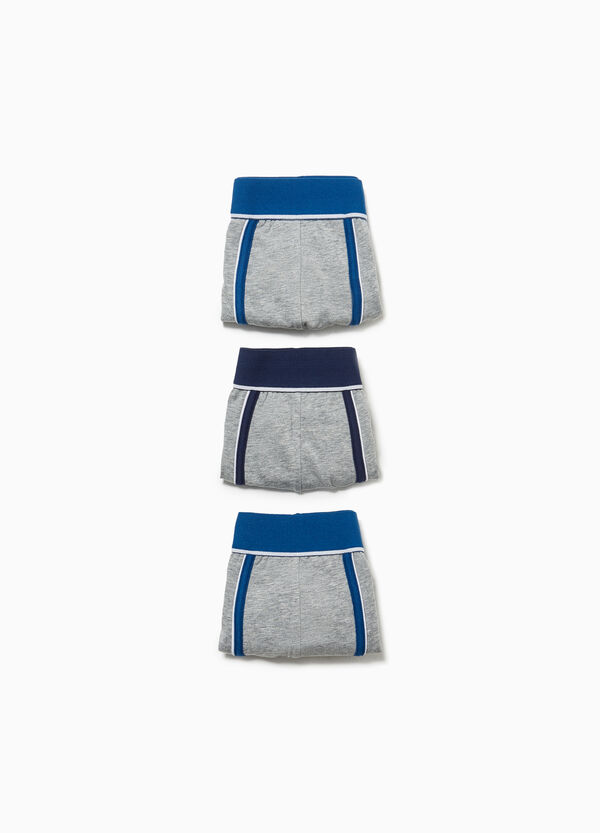 Three-pack stretch cotton boxer shorts with edging